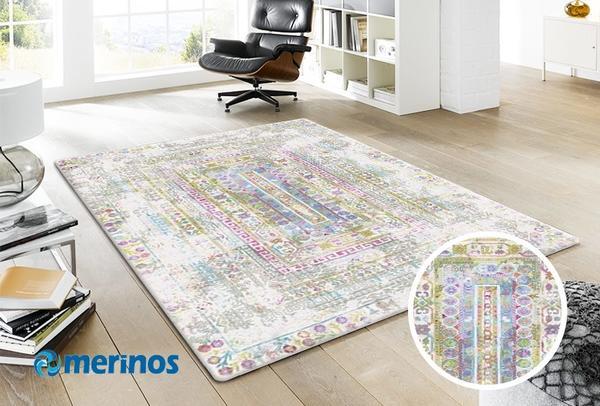 Merinos-Colorful-Eskitme-Kare-Cizgili-Hali-Renkli-5792-60-Multi-Giydirmeli