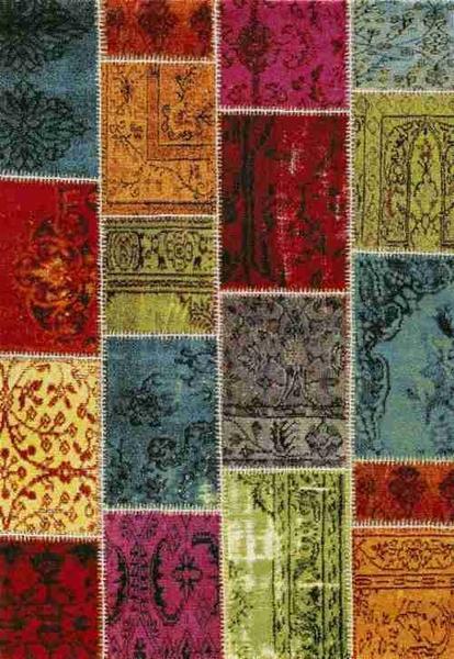 Merinos Ethno Patchwork Halı | Renkli | 819-110-Multi