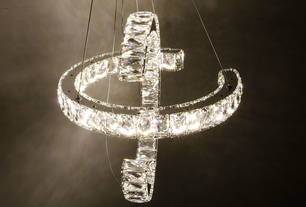 Kristall Led Kronleuchter ~ Almina led kronleuchter 2er Ø 40cm kristall stein al 207 2
