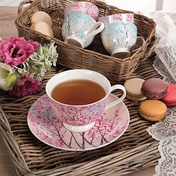 Korkmaz Country 6'lı Çay Fincan Takımı | Pembe | A8760