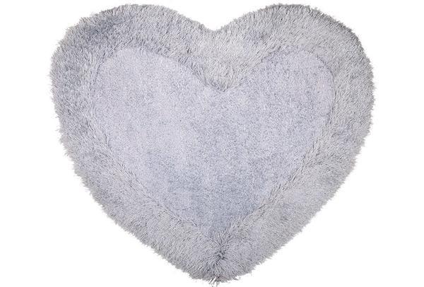 Bavary Banyo ve Kapı Önü Paspası | Kalp Şekilli | by-Heart-Grey