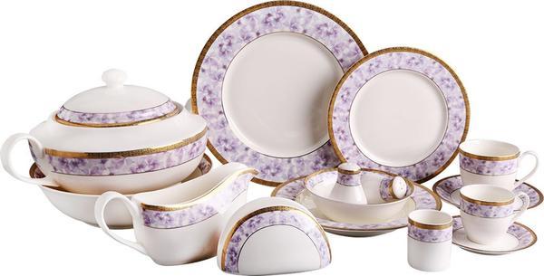Korkmaz Pearl Collection 86 Parça Yuvarlak Porselen Yemek Takımı | 12 Kişilik | A8226