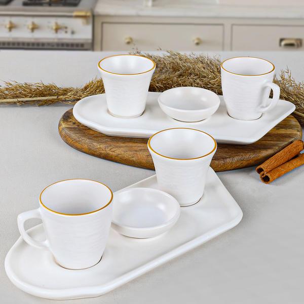 Gold Line Kahve Sunum Seti 8 Parça 2 Kişilik | Keramika