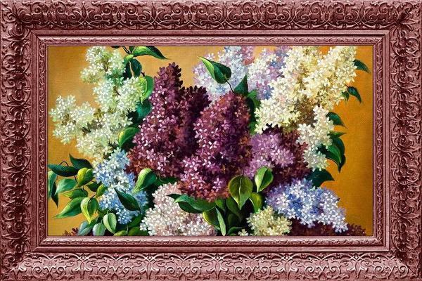 Çiçekler Çerçeve Baskılı MDF Tablo   Tk-2053