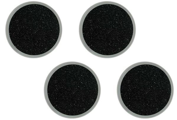 Dekonaz Kristal Tozu İşlemeli Yuvarlak Bardak Altlığı | Siyah