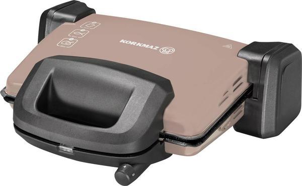 Korkmaz Kompakto Granit Maxi Tost Makinesi Kahverengi/Siyah | A313-06