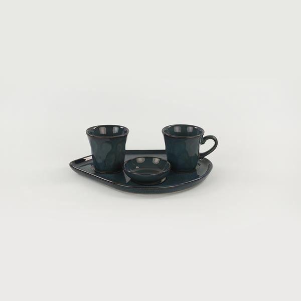 Lapis Moka Kahve Sunum Seti 8 Parça 2 Kişilik   Keramika