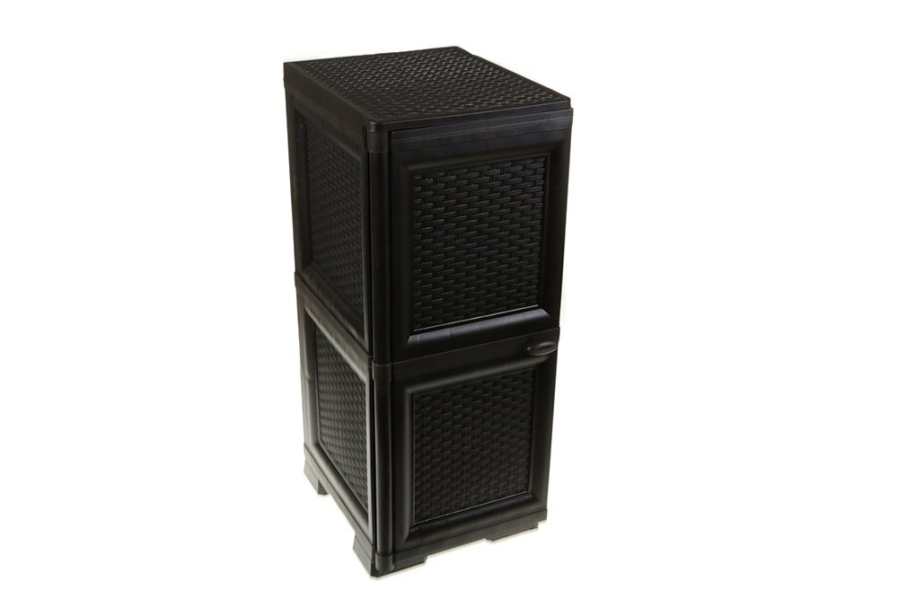 violet bella rattan moderner schrank kommode doppel. Black Bedroom Furniture Sets. Home Design Ideas
