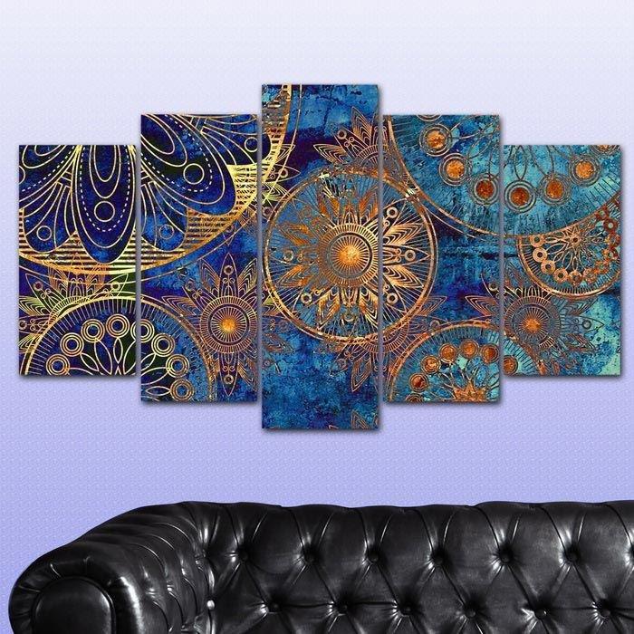 5 teiliges wandbild mdf sch nes muster portrait ebay. Black Bedroom Furniture Sets. Home Design Ideas