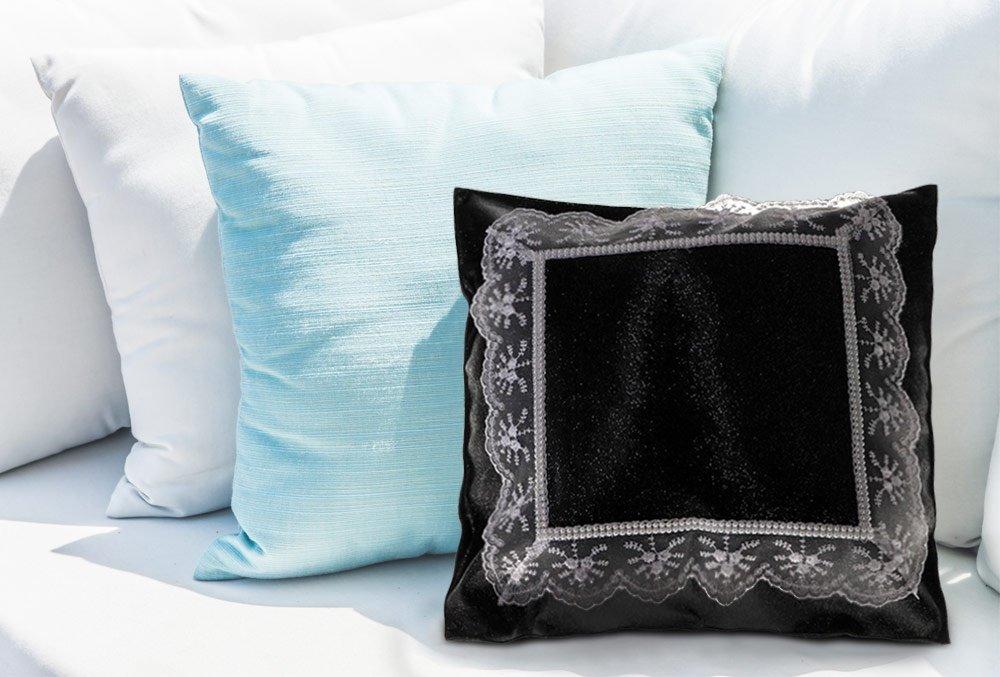 dematex kissenh lle spitze schwarz wei 40x40 ebay. Black Bedroom Furniture Sets. Home Design Ideas