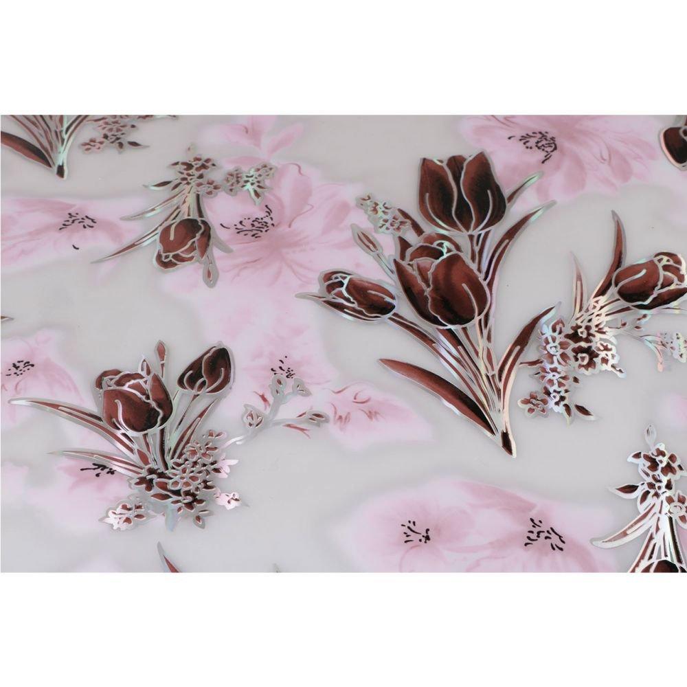pvc tischdecke tischschutz wachstuch meterware folie blumen motiv 1 7 mm 70 cm ebay. Black Bedroom Furniture Sets. Home Design Ideas