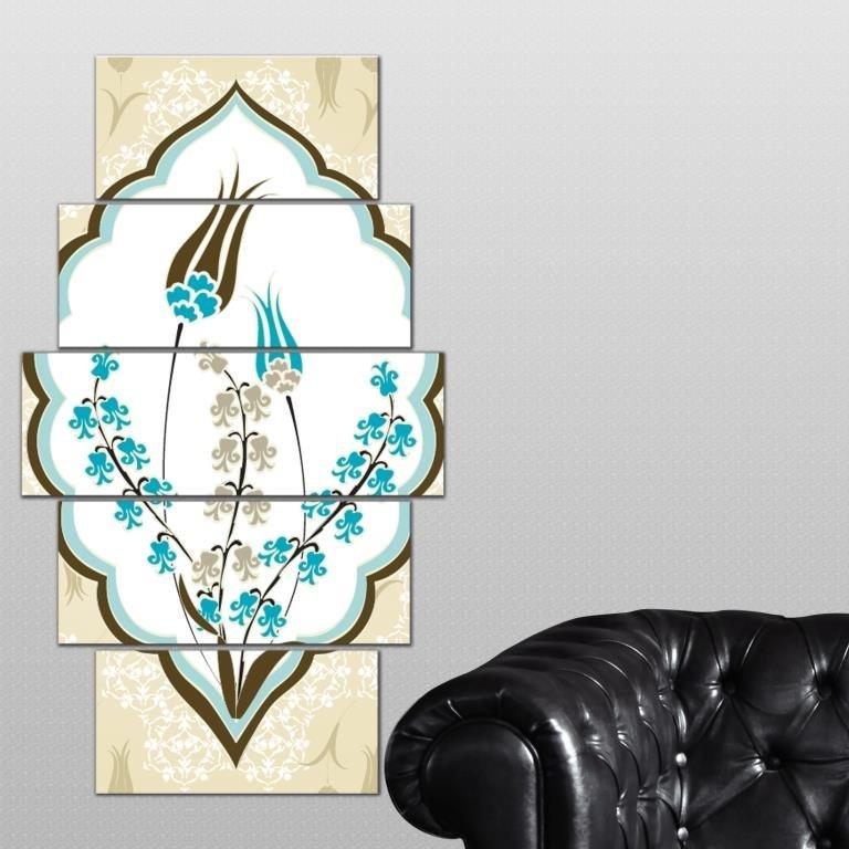 5 teiliges wandbild mdf blumen und bl ten wanddekoration. Black Bedroom Furniture Sets. Home Design Ideas