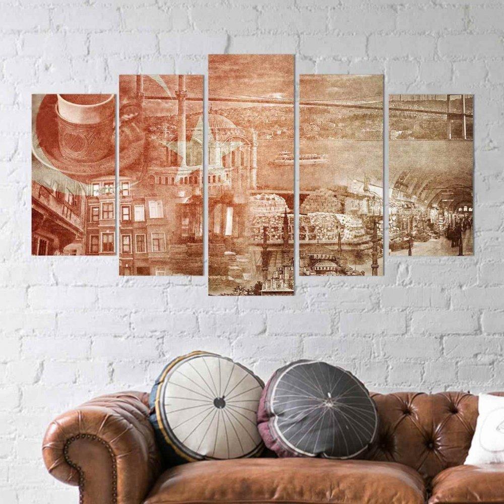 dekonaz 5 teilig wandbild mdf t rkei t rkische. Black Bedroom Furniture Sets. Home Design Ideas
