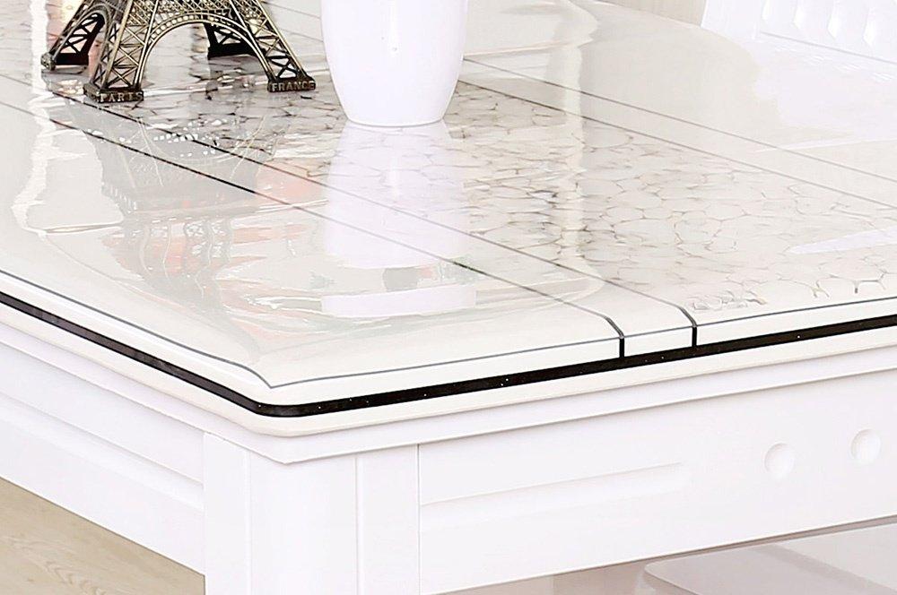 cinar pvc tischdecke tischschutz wachstuch meterware transparent 2mm 120cm ebay. Black Bedroom Furniture Sets. Home Design Ideas